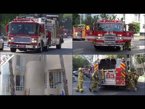 [Early Arrival] Structure Fire - Multiple LAFD Fire Trucks Responding