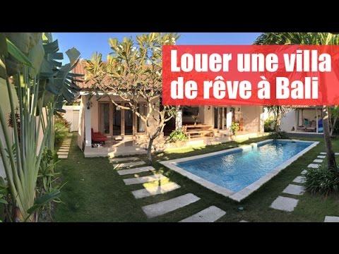 Louer une villa de r ve bali seminyak youtube Villa a louer bali