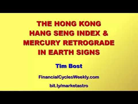 The Hong Kong Hang Seng Index & Mercury Retrograde in Earth Signs