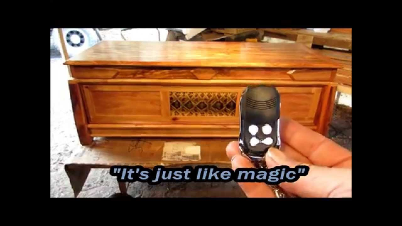 Auto Open Remote Unlocking Weapons Storing Coffee Table w/ Hidden Drawer #2 - YouTube
