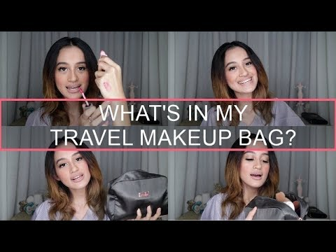 WHAT'S IN MY TRAVEL MAKEUP BAG? | Nadya Aqilla | Indonesia