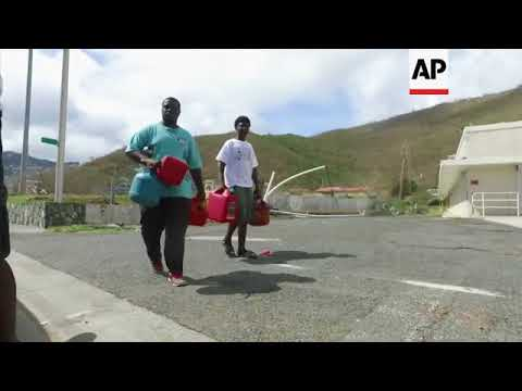 US aid to hurricane victims in St Thomas