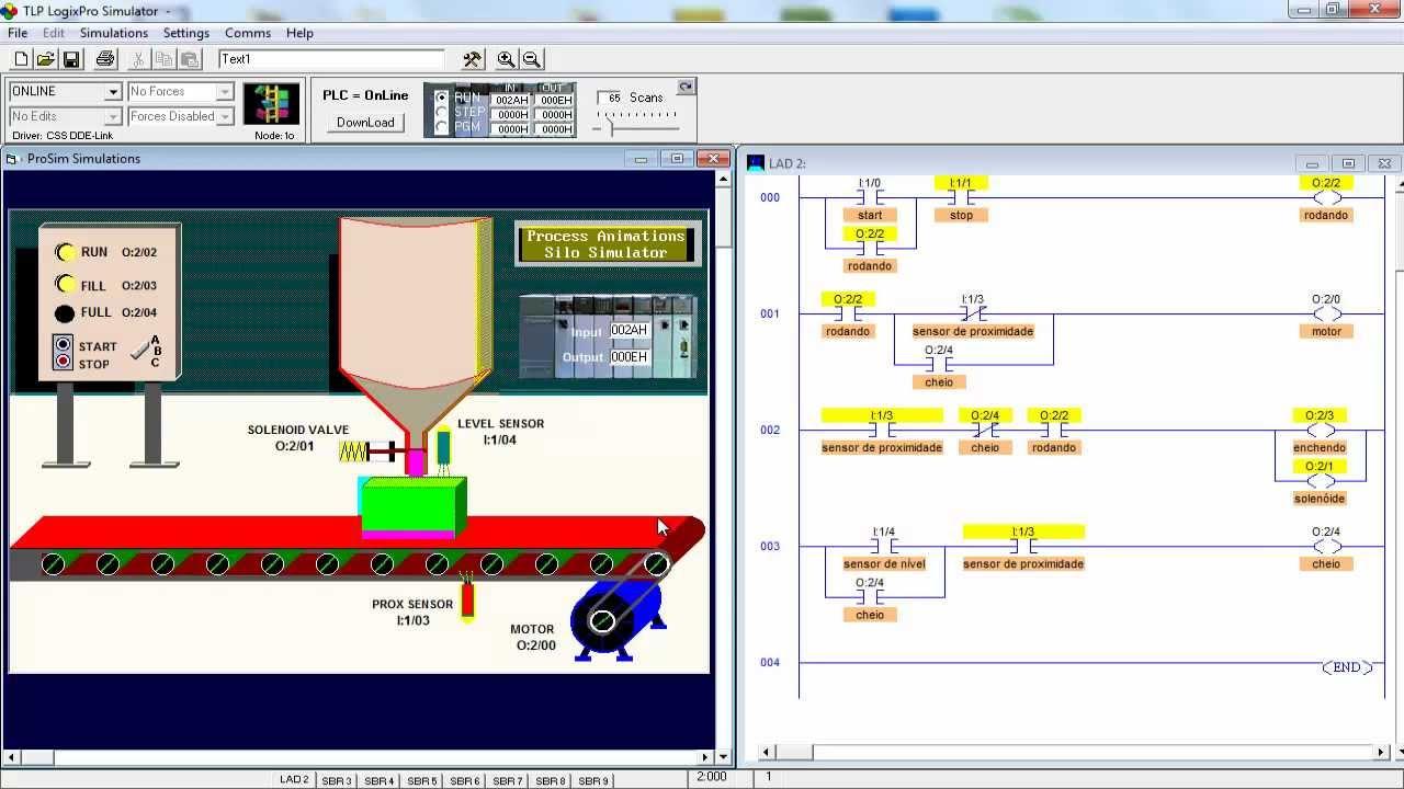 Programa O Em Ladder Aula 16 Exerc Cio 03 Simulador