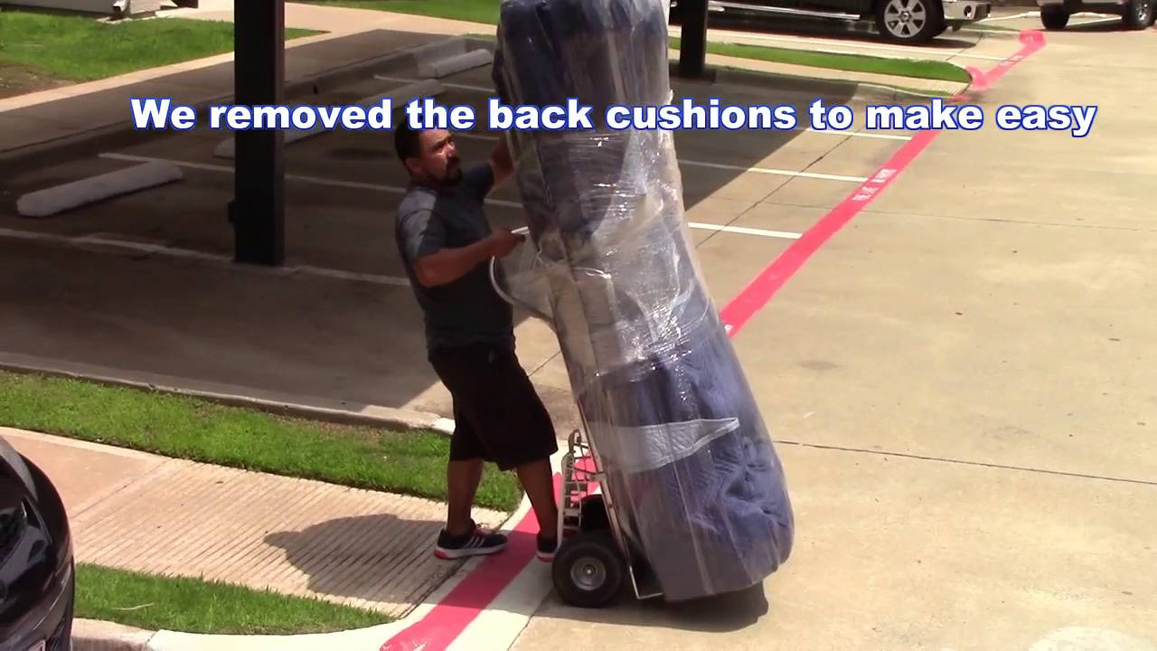 How To Move A Heavy Sofa By Your Self Upstairs   YouTube