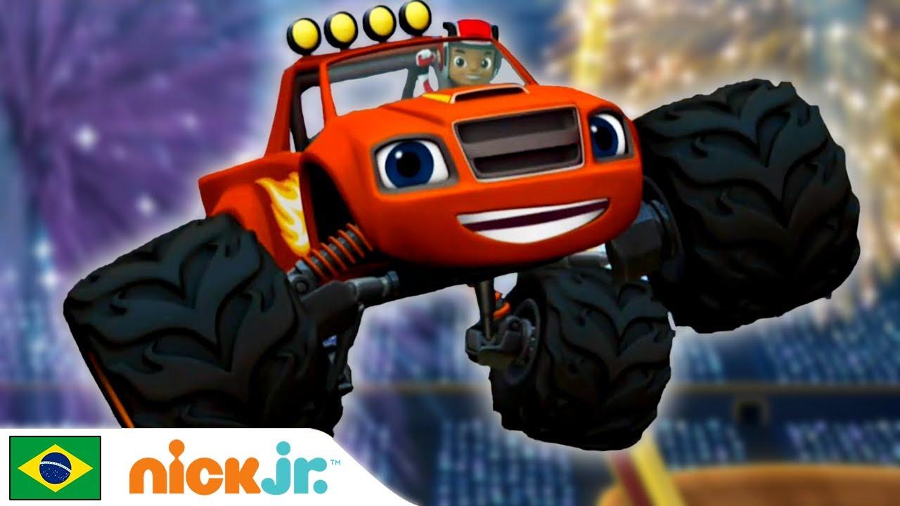 Blaze and the Monster Machines | Aprendendo com Blaze - Parte 2 🤓 | Nick Jr.