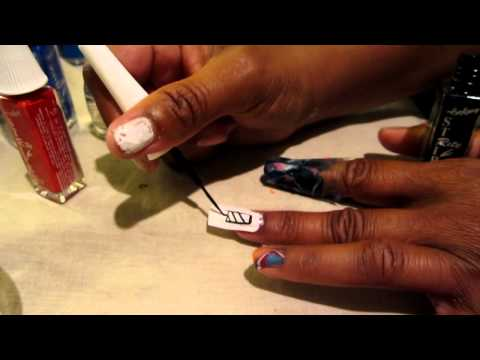 How To Make Fake Nails With Tape Youtube