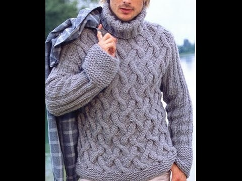 knit a cable stitch  ضفيرة تريكو