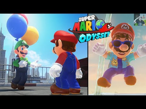 Super Mario Odyssey | Luigi\'s Balloon World & New Outfits FREE DLC