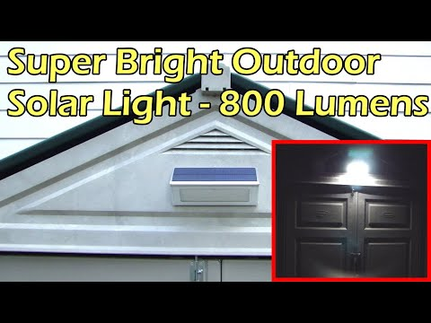 Super Bright Outdoor Solar Light 48 LED - 800 Lumens