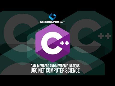 C Plus Plus 02 Data Members and Member Functions C++ Tutorials ugc net computer science