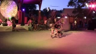 Aztec Dancers & Totonac Pole Flyers @ New Mexico State Fair Indian Village Clip 2