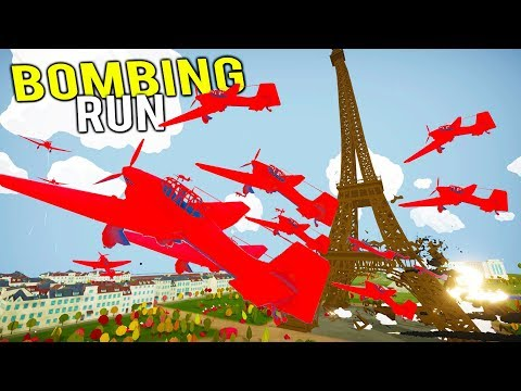 BLOWING UP THE EIFFEL TOWER WITH A MASSIVE BOMBING RUN!  Total Tank Simulator NEW Gameplay