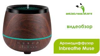 Аромадиффузор с bluetooth музыка аудио Inbreathe Muse обзор | Antistress.Store