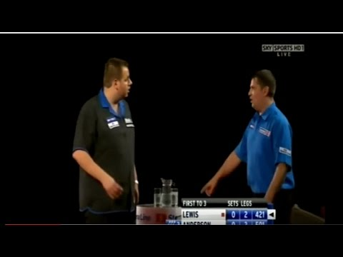 Adrian Lewis vs. Gary Anderson Incident - 2009 PDC World Grand Prix