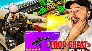 LE FUSIL D'ASSAUT TACTIQUE EST CHEAT SUR FORTNITE BATTLE ROYALE !!!