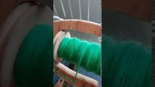 Spun yarn.