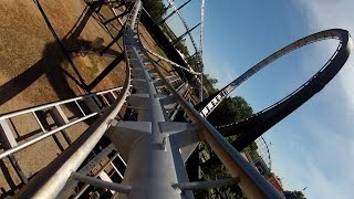 Silver Bullet Roller Coaster POV Front Seat Frontier City Oklahoma City