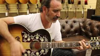 Jason Sinay playing our Gibson J-200 Bob Dylan Signature here at Norman's Rare Guitars