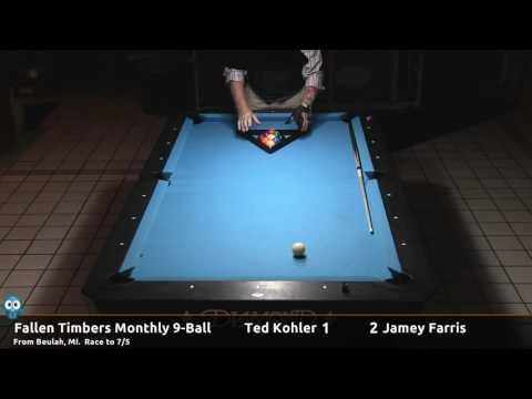 Ted Kohler vs. Jamey Farris - 2016-12-03 Fallen Timbers monthly 9-ball