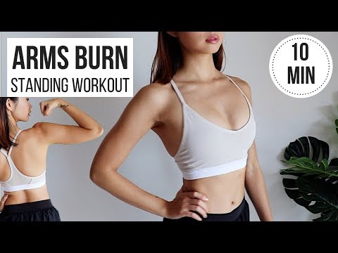 BEST Standing Arms Workout! 10 Min BURN & TONING (No Equipment, Perfect For Beginners) ◆ Emi ◆