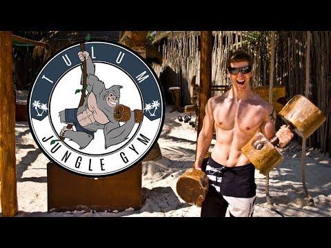 TRAIN LIKE A FLINTSTONE!! | Tulum Jungle Gym | Mexico Vlog #6