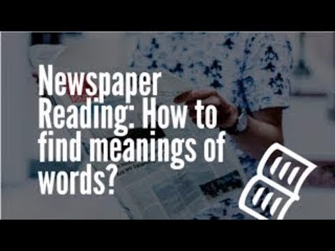 Newspaper Reading: How to find meanings of words? | English Communication Tips | TalentSprint