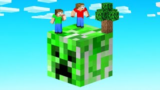 We Visited A CREEPER ONLY Skyblock (Minecraft)