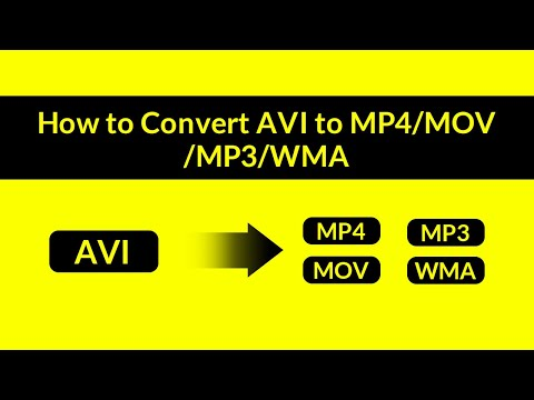 How To Convert AVI To MP4/MOV/MP3/WMA And More