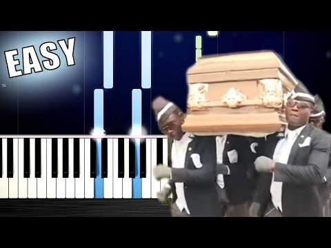 Coffin Dance - EASY Piano Tutorial By PlutaX