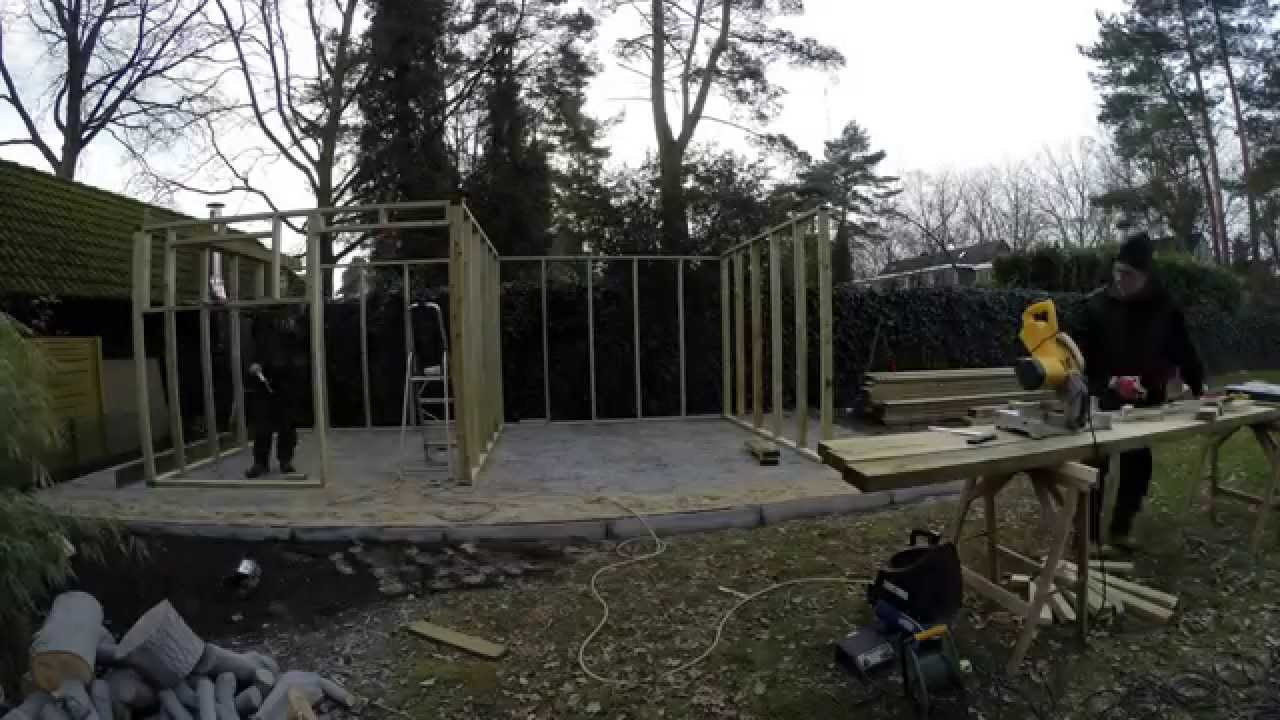Tuin hout berging youtube