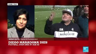 'Ciao Diego': Napoli bid farewell to club legend Maradona