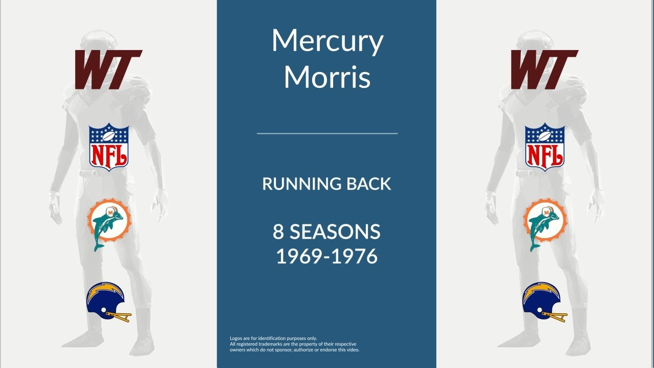 Mercury Morris  Football Running Back - YouTube 30937a993
