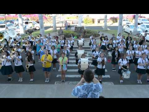 2014 Sacred Hearts Academy Marching Band | Practice for Christmas Parade