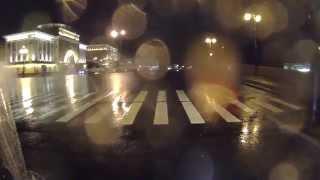 YBR125 Ночной Питер в дождь rainy night spb