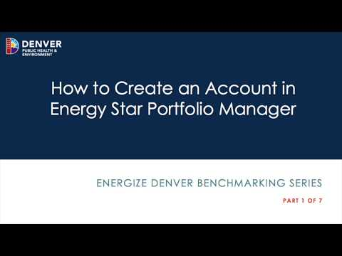1.  How To Create An Account In Energy Star Portfolio Manager