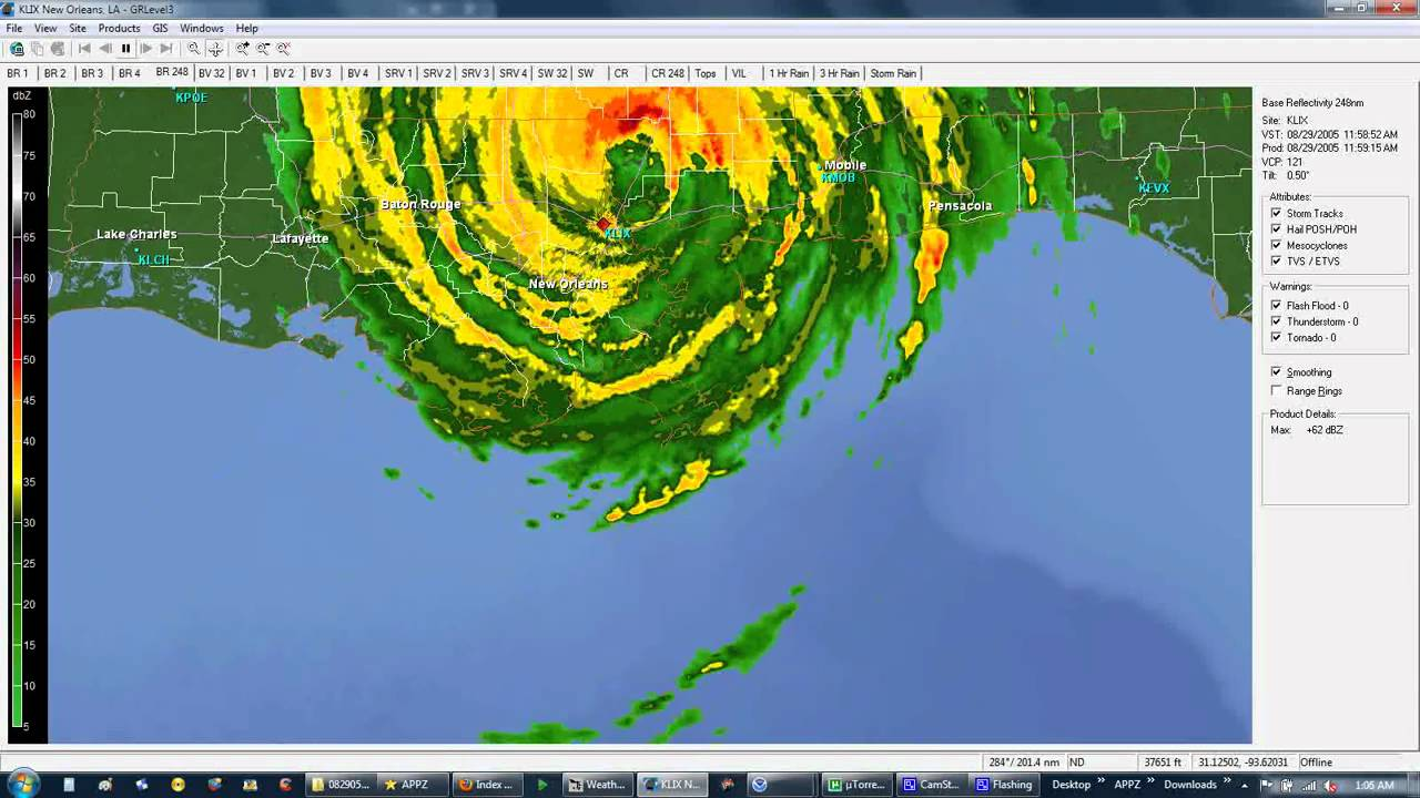 Hurricane Katrina Radar Loop YouTube - Us weather radar map loop