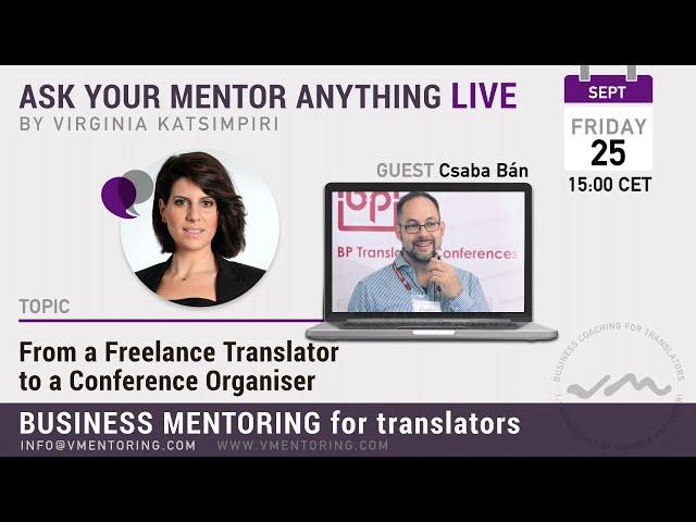 Ask Your Mentor Anything Live with Virginia Katsimpiri FT. Csaba Bán