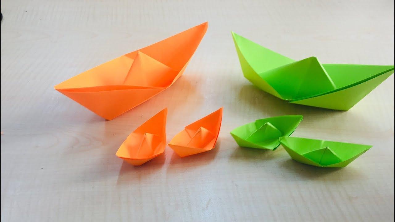 Origami Kağıt Katlama Gemi Yapımı