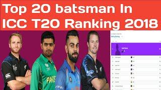 ICC Player Rankings for T20 Batsmen | Top 20 batsman In ICC T20 Ranking 2018