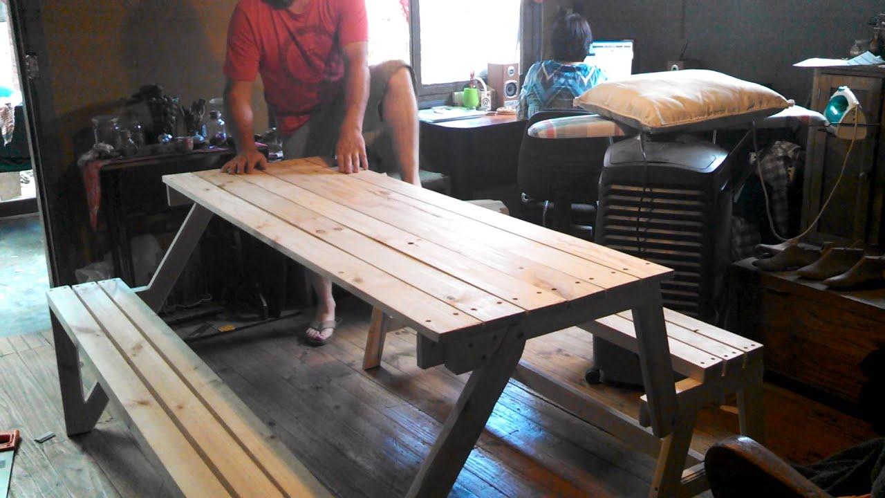 Mesa plegable para terraza youtube for Mesas plegables para terraza