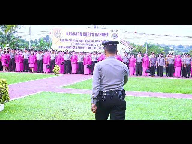 KENAIKAN PANGKAT POLRI PERIODE 1 JANUARI 2019 POLRES KENDARI