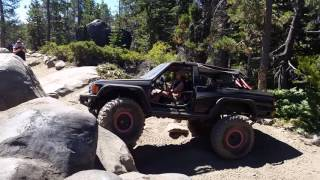 Sue owning Soup Kitchen at Rubicon trail 7/23/16
