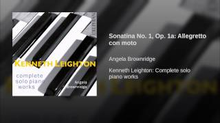 Sonatina No. 1, Op. 1a: Allegretto con moto