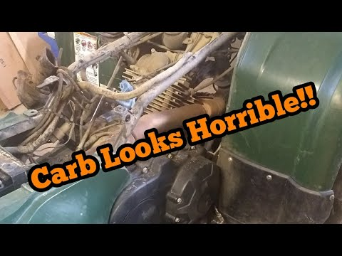 Yamaha High Idle Fix (Part 1) 350 Grizzly Carburetor Cleaning