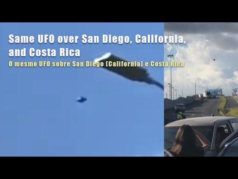 Same UFO Over San Diego, California, And Costa Rica