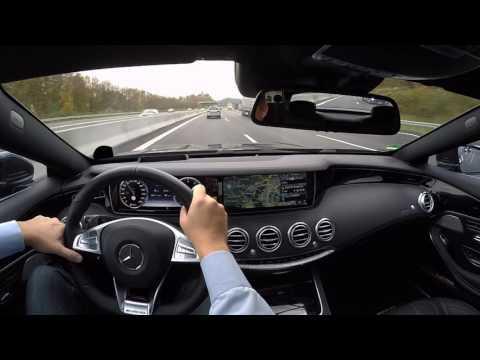 MB S500 Coupé Drive Fahrt Autobahn Stuttgart City