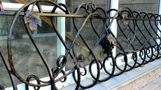 видео Кованые ограждения окна