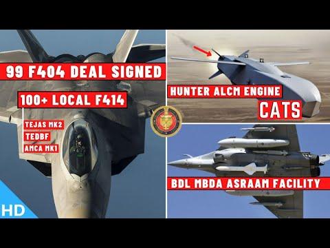 Indian Defence Updates : 99 F404 Deal Signed,F414 Production,BDL ASRAAM Facility,Hunter ALCM Engine