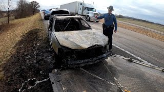 Car Fire on the Interstate with Secondary Crash   The Importance of Quick Clearance