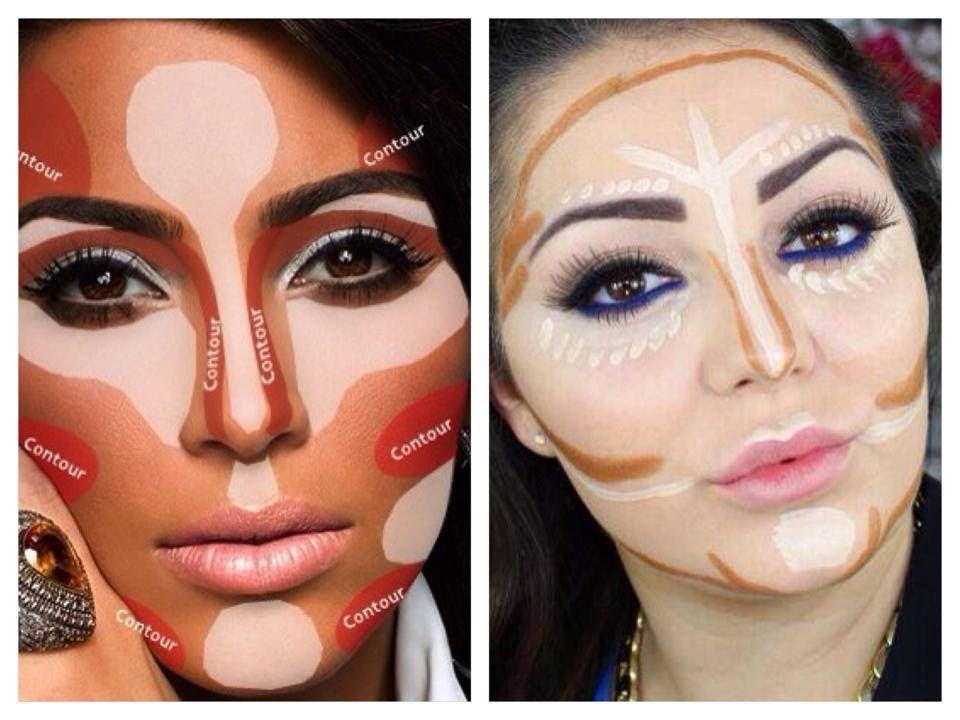 Contouring and Highlighting like Kim Kardashian - Makeup Secret ...